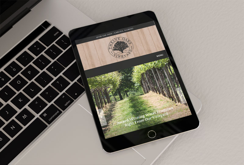 Twelve Oaks Vineyard - Mobile View