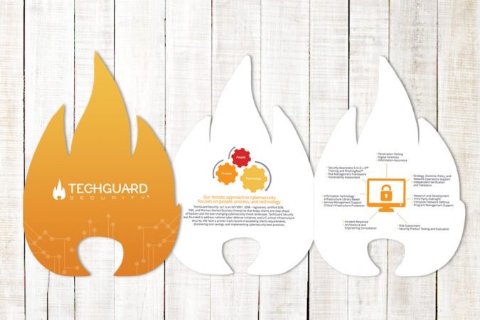 TechGuard Security - Die Cut Flame Design