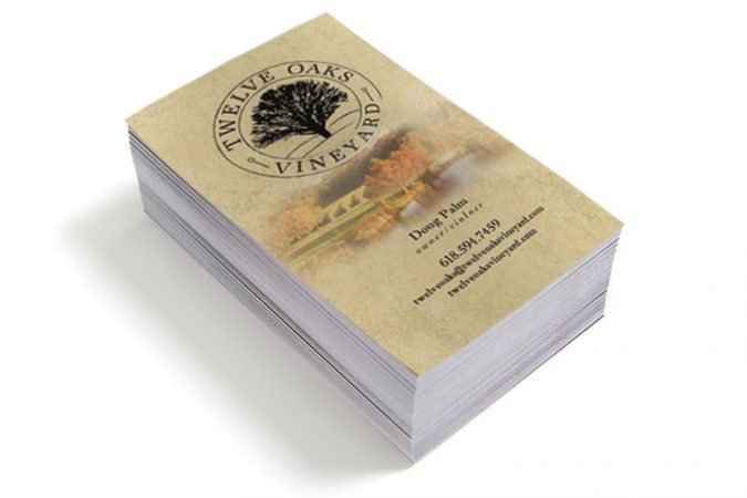 Twelve Oaks Vineyard - Business Card Design