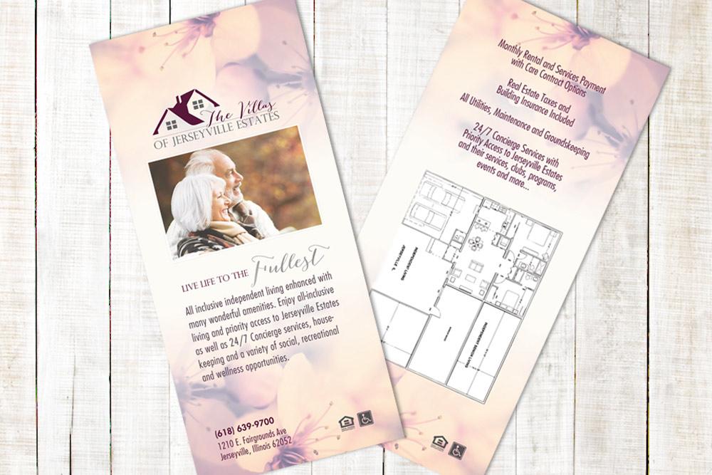 Villas of Jerseyville - Rack Card Design