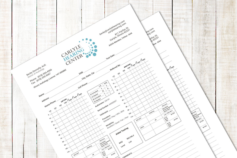Carlyle Hearing Center - Exam Form Design