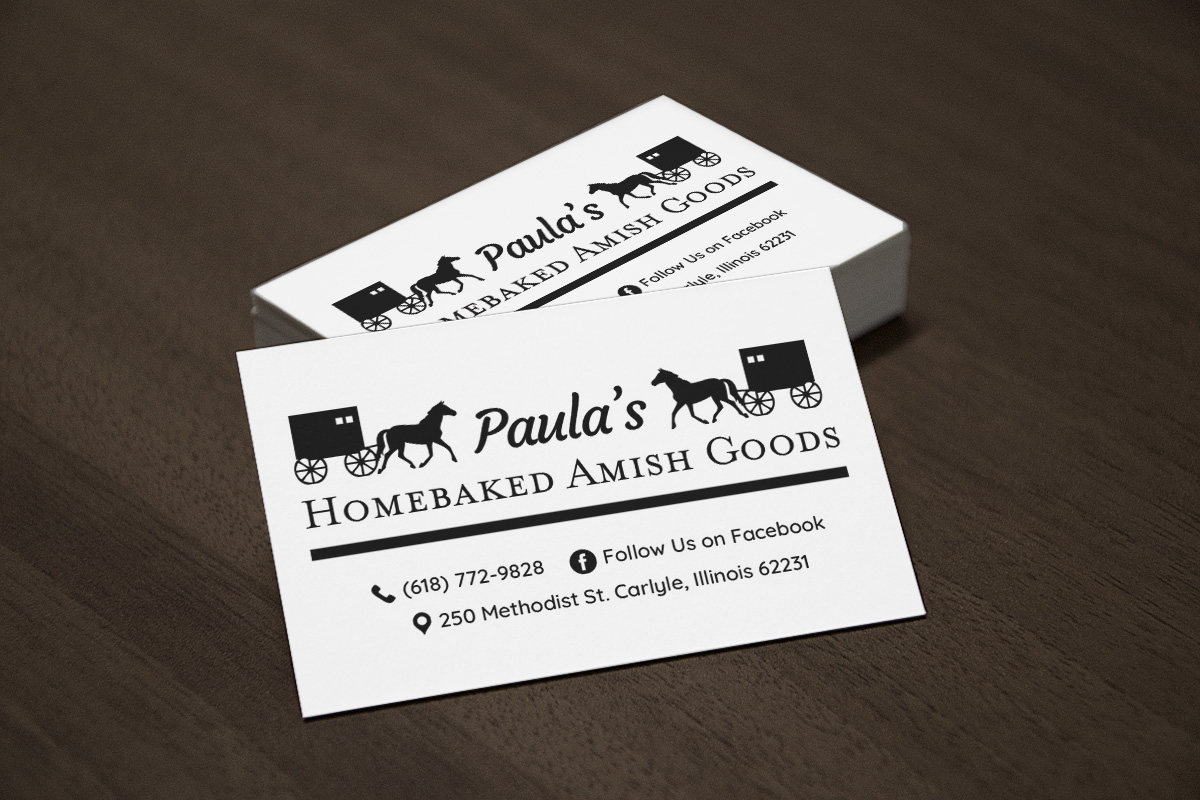Paula's Homebaked Amish Goods - Business Card Design