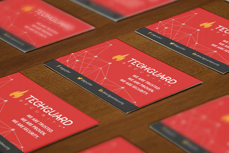 TechGuard Security - Business Card Design